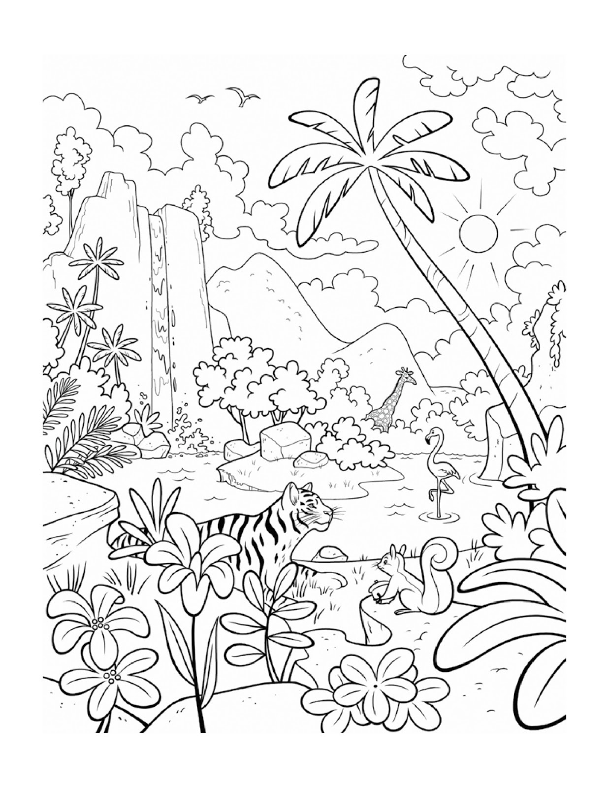 coloring page plants and animals - Drawing And Colouring Pictures For Kids