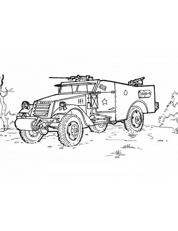 coloring pages of army vehicles