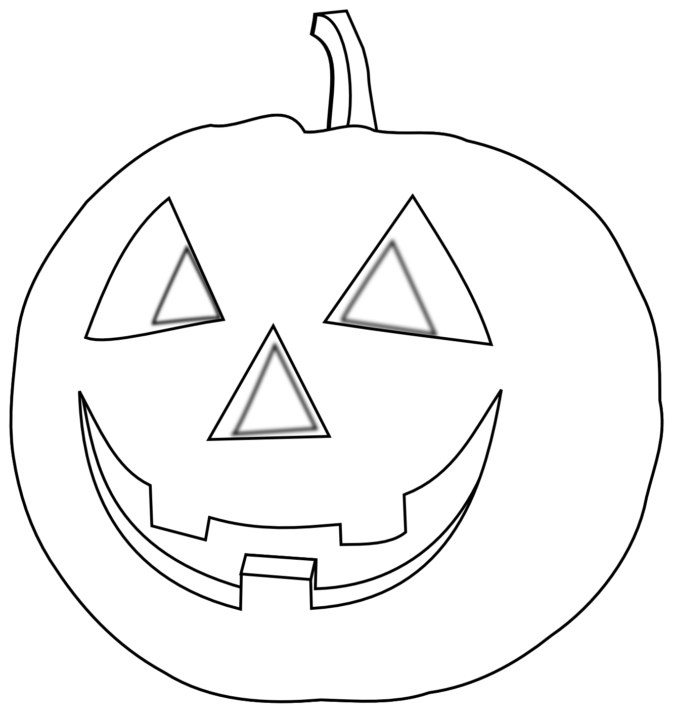 Halloween Black and White Color Painting