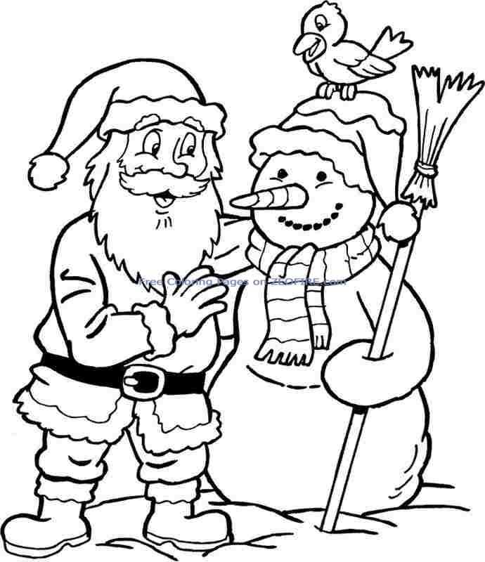 Printable Coloring Websites : Christmas santa claus