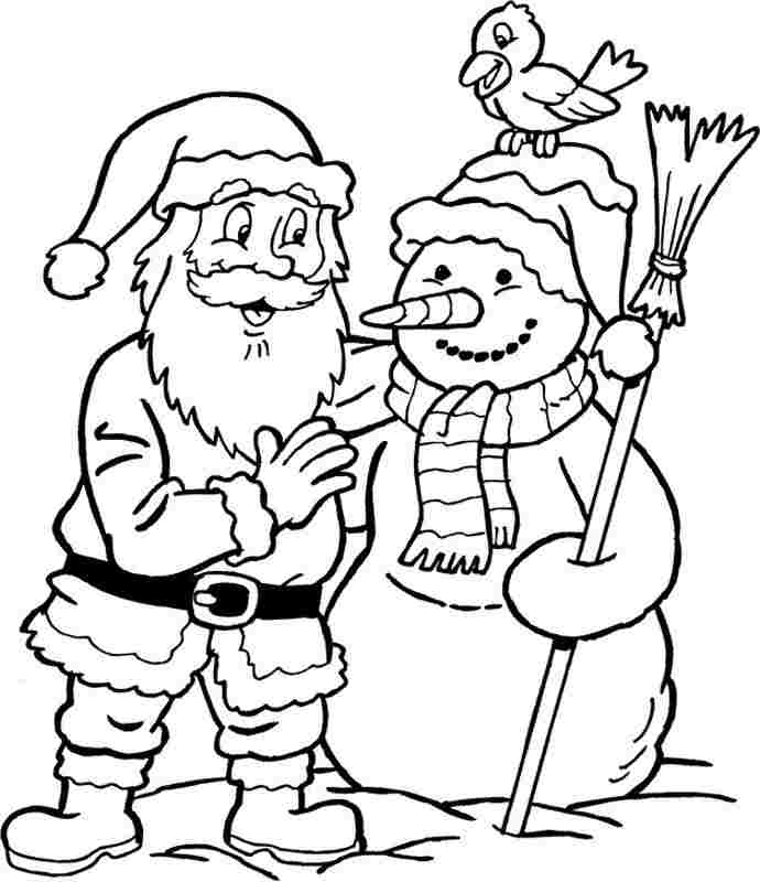 christmas santa claus coloring website printable
