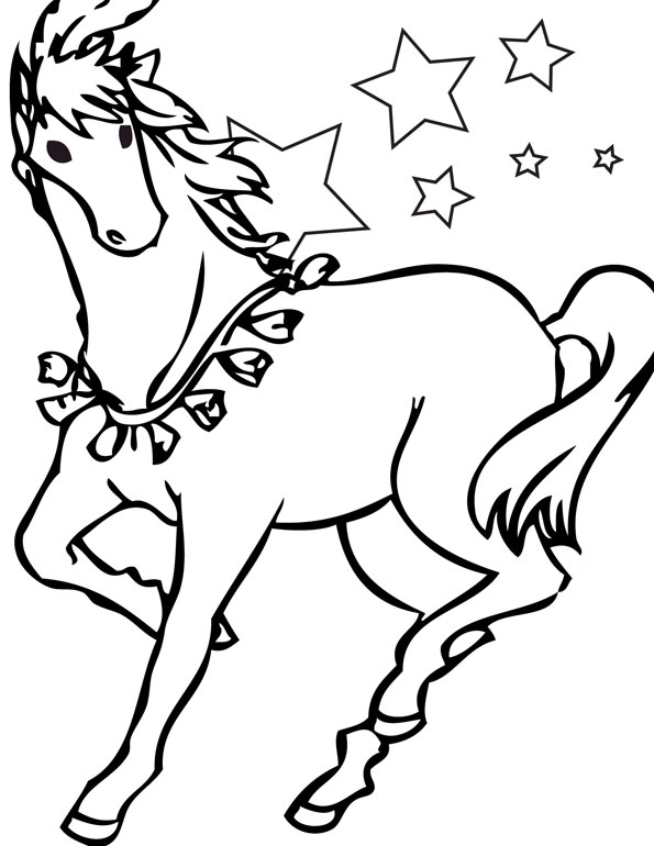free coloring pages horse stars