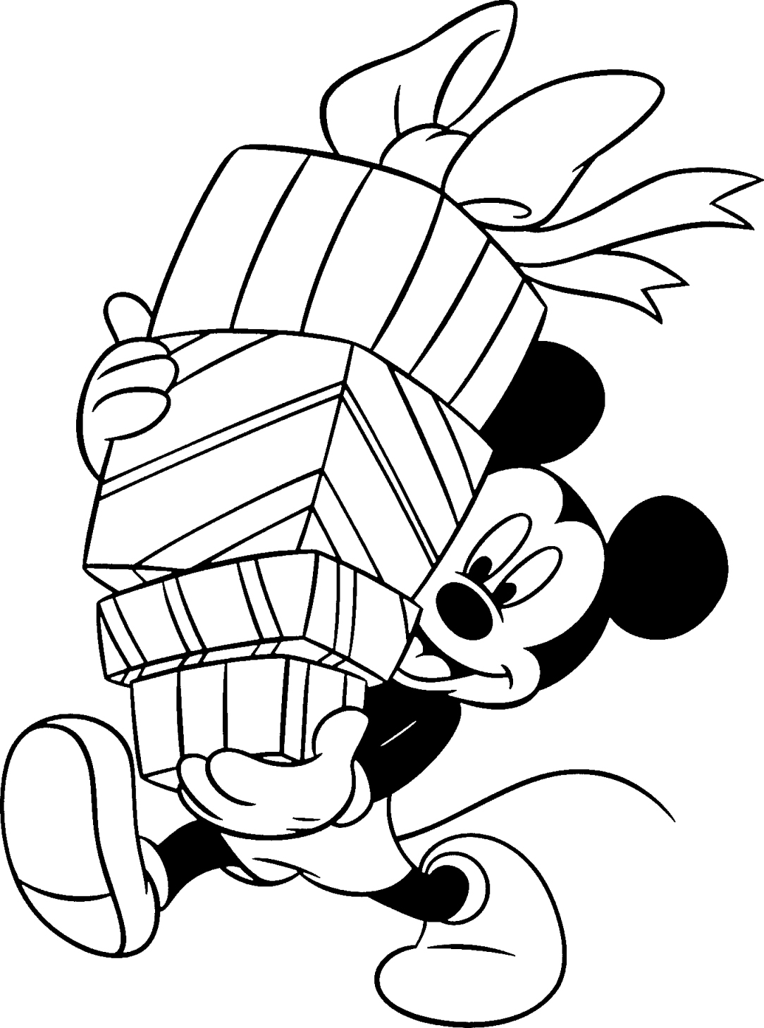 printable free disney christmas coloring pages - Christmas Coloring Sheets Kids