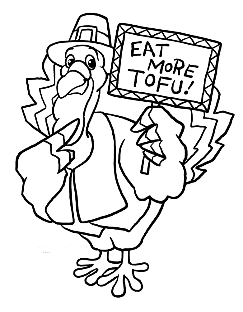 Funny Thanksgiving Turkey Coloring Pages | Cartoon Coloring Pages