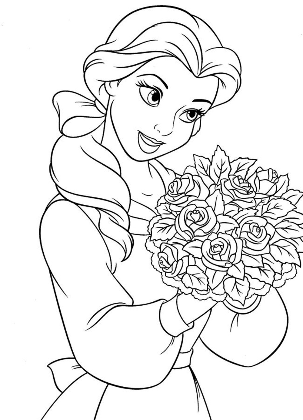 disney princess tiana printable coloring page